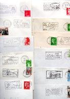 France : Lot 45 Enveloppes  Entières Du Département De L'Hérault ( Toutes Différentes) - Marcophilie (Lettres)