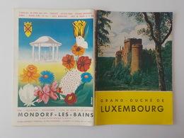 1959 Brochure Guide Touristique Grand Duché Du Luxembourg Tourisme Echternach Mondorf Clervaux - Dépliants Touristiques