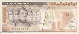 TWN - MEXICO 88c - 5000 5.000 Pesos 28.3.1989 Serie KN - Prefix D UNC - Messico