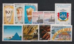 Nouvelle Calédonie - Année Complète 1984 - N°Yv. 481 à 490 - 10 Valeurs - Neuf Luxe ** / MNH / Postfrisch - Neufs