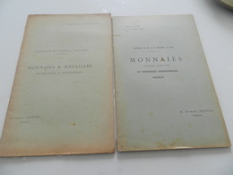 Lot De 2 Livrets  Vente  De Monnaies     A Paris   1896  - 26 Pages   1899 - 40 Pages - Libri & Software