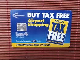 PHONECARD AIRPORT 80 UNITS  MALTA 97 USED  USED RARE - Malta