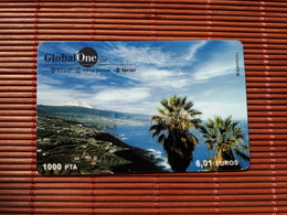 GLOBAL ONE PREPAIDCARD SPAIN  USED RARE - Spain