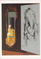 Postcard - Art - Mel Ramos - The Drawing Lesson No. 4 (1989) - VG - Cartes Postales