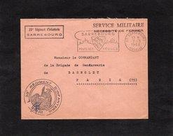 1968 - Cachet & Griffe -23è Régiment D'Infanterie  SARREBOURG  - Cachet Et Flamme SARREBOURG & Service Militaire - Postmark Collection (Covers)