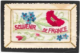 Cpa BRODEE à Rabat - Fleurs Patriotiques, SOUVENIR DE FRANCE - Embroidered