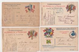 27966 Lot 4 Carte Lettre Correspondance Soldat Guerre 1914- Moizan Eugene Le Favier -Nuythens - Emile Breton - 1915 1916 - Weltkrieg 1914-18