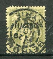 17845 LEVANT N°3° 4pi S. 1F Olive Timbre De France De 1876-77 Surchargé  1885   B/TB - Usados