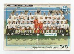Cpm Football équipe Olympique De Marseille Saison 1999:2000 - Football