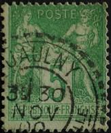 -Sage N°102 Type III.(CAD) O JAULNY ( 52 ) 30 Nov 1900  ( NsB) - 1898-1900 Sage (Type III)