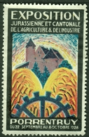 """Schweiz Suisse Pruntrut Porrentruy Jura 1928 """" Exposition Jurassienne Agriculture """" Vignette Cinderella Reklamemarke - Erinofilia"""