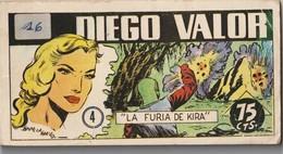 Comic. Español Diego Valor N ° 4. 1986. Agotado. Condición Media Garabatos En La última Página. - Libri, Riviste, Fumetti