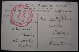138eme Territorial D'infanterie 1er Bataillon L 'officier Des Détails 1915 Sur Cpa Des Environs De Chaumont - Poststempel (Briefe)