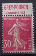 France N° 191c **. Semeuse Rose 30c. Carnet. Bande Publicitaire Publicité Pub. - Advertising