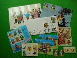 **KUIFJE**Lot Kuifjesobjecten ** Numisletter + Herdenkingskaart + Postogram + Postfrisse Zegels ** - Collections