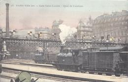 CPA 75 - PARIS Gare Saint Lazare - Quai De Ceinture - Rare - Stations, Underground