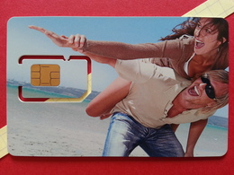 SPAIN SIM GSM Telefonica MoviStar Couple Cut Chip - Numbers Back USIM RARE MINT (BH1219b - Telefonica