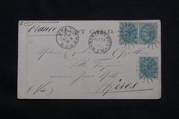 AUSTRALIE - Affranchissement Plaisant De Hunter's Hill Sur Carte Postale ( Sydney ) En 1902 Pour La France - L 59981 - Briefe U. Dokumente