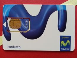 SPAIN SIM GSM Telefonica MoviStar Contrato Cut Chip - Numbers Back USIM RARE MINT (BH1219b - Telefonica