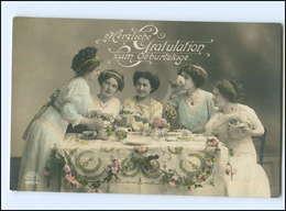 Y16028/ Geburtstag  Frauen Trinken Kaffee Foto AK 1913 - Birthday
