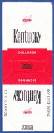 Portugal 1940 To 1950, Packet Of Cigarrettes - KENTUCKY / Intar, Sintra Lisboa - Esc. 1$60 - Boites à Tabac Vides