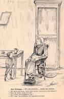 """Lot Série De 5 CPA Illustration Illustrateur A. Duchêne - Poitou Charentes Patois Poitevin Paysan """" Au Village """" - Illustrators & Photographers"""