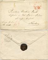 (Lo4151) Altdeutschland Brief Roter St. Frankfurt N. Nürnberg - Germany