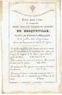 GIJZEGEM - Marie Pauline De BROQUEVILLE - Overleden Op Het Kasteel Van Ghyseghem 1853  - (Franstalig) - Devotion Images