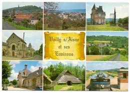 Aisne Vailly Sur Aisne Et Ses Environs Multivues Péniche Aizy Soupir Condé Chavonne Chassemy Cys - Autres Communes
