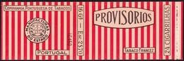 Portugal 1930 To 1940, Packet Of Cigarrettes - PROVISÓRIOS / Companhia Portuguesa De Tabacos - Boites à Tabac Vides