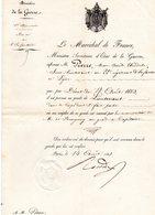 """-MILITAIRE --""""Certificat""""-(Promotion Au Grade De LIEUTENANT D'un Officier Du 22è Rég. D'Infanterie De Ligne)- - Documents Historiques"""