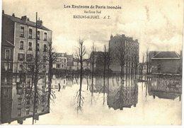 Carte POSTALE Ancienne De  MAISONS - ALFORT - Inondations 1910, Banlieue Sud - Maisons Alfort
