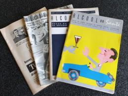 LOT DE 4 REVUES DU COMITE NATIONAL De DEFENSE CONTRE L'ALCOOLISME - 1967 . 1968 - Health