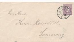 Nederlands Indië - 1906 - 10 Op 25 Cent Willem III, Envelop G13a Van GR Weltevreden Naar GR Semarang - Rood Sluitzegel - Niederländisch-Indien