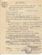 BEAUSOLEIL . 06 .GUERRE 39/45 . ACTE D'ENGAGEMENT DANS LA DEFENSE PASSIVE - Documenti Storici