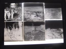 Lot De 45 Photos Plaques De Verre Anciennes Thème Militaire Guerre 14-18 WW1 Verdun Anizy Poilus - Diapositivas De Vidrio