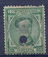 200034927  ESPAÑA  EDIFIL  TELEGRAFOS  Nº 179T  WITH PEELING - Telegrafi