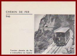 L'ancien Chemin De Fer à Crémaillère Du Salève. Haute Savoie (74). Ferroviaire. Train. Larousse 1960. - Documents Historiques