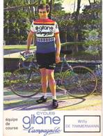 Carte Cyclisme Coureur Cycliste Gitane Willy DE TIMMERMANN - Cyclisme