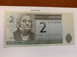 Estonia 2 Krooni Crispy Banknote 2007 #2 - Estonie