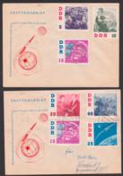 German Titow 15 Pfg. DDR 865 U.a., Besuch Des Kosmonauten In Der DDR, Wilkau-Hasslau Bzw. Dresden Gest. - DDR
