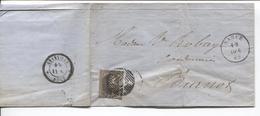 REF1115/ TP 6 S/LAC De Bauchau De Bare Tanneur Daté De Namur C.Namur Obli.à Barres 85 > Burnot C.d'arrivée Annevoie - Postmark Collection