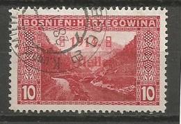 Bosnia Bosnien K.u.K. Austria Hungary Mi.90I Wide Space Between The 2 Lines Of Overprint (Pos.14) Used 1914 - Bosnien-Herzegowina