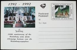 1992 RSA South Afrika Postal Stationery Entier  Postage Paid 200 Aniv. Nederburg Wine Farm Vino Vin Vinho Wein - Sonstige