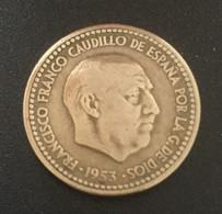 $$ESP1000-Francisco Franco - 1 Peseta Coin - Spain - 1953 - [ 4] 1939-1947 : Gobierno Nacionalista