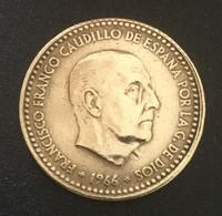$$ESP1003-Francisco Franco 1 Peseta Coin - Spain - 1966 - [ 4] 1939-1947 : Gobierno Nacionalista