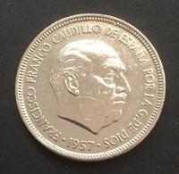 $$ESP1100-Francisco Franco 5 Pesetas Coin - Spain - 1957 - [ 4] 1939-1947 : Gobierno Nacionalista