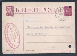 Postal Stationery Do Centro Comercial Das Beiras, Viseu Circulado Em 1952. - 1910-... Republic