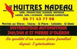 Carte De Visite - Huîtres Nadeau - Dolus D'Oleron [17] - Cartes De Visite