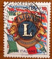 1967 ITALIA Stemma Lions Club - Lire 50 Usato - 6. 1946-.. Repubblica
